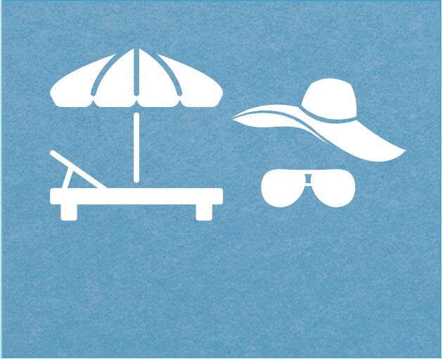 Proteggersi sempre con schermi solari (ombrelloni, teli, alberi) e indumenti (camice, magliette, occhiali da sole, cappellini)